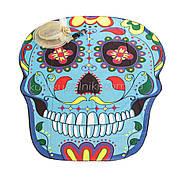 Пляжное коврик с рисунком Синий череп 150*120