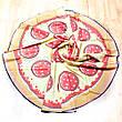 Пляжное покрывало в виде пиццы 148*148, фото 6
