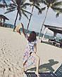 Пляжное покрывало круглое с рисунком Happy Sunshine 150*150, фото 5