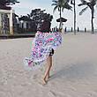 Пляжное покрывало круглое с рисунком Happy Sunshine 150*150, фото 6