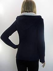 Жіноча  вязана кофта з вишивкою , фото 2