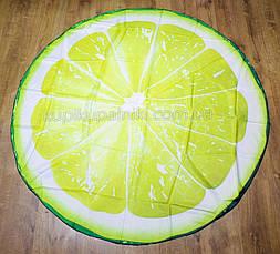 Пляжный коврик подстилка Лимон яркое лёгкое воздушное Пляжное покрывало в виде лимона 148*148, фото 2