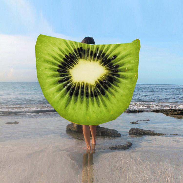 Пляжное покрывало в виде киви 148*148