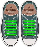 Прямые силиконовые антишнурки для кроссовок и кед Зеленый, 53 мм