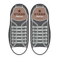Прямые силиконовые антишнурки для кроссовок и кед Серый, 53 мм