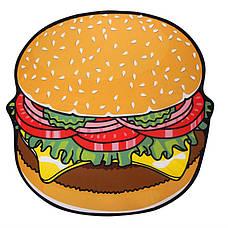 Пляжное покрывало в виде гамбургера 148*148, фото 2