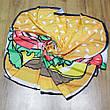 Пляжный коврик подстилка бургер 2020 Пляжное покрывало в виде гамбургера лёгкое модное 148*148, фото 4