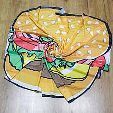 Пляжное покрывало в виде гамбургера 148*148, фото 3