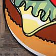 Пляжный коврик подстилка бургер 2020 Пляжное покрывало в виде гамбургера лёгкое модное 148*148, фото 3