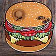 Пляжное покрывало в виде гамбургера 148*148, фото 5