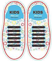 Детские прямые силиконовые антишнурки для кроссовок и кед Коричневый, 38 мм