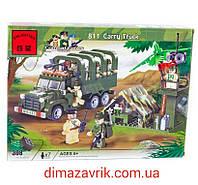 """Конструктор Brick 811 """"Военный грузовик"""" 308 деталей, фото 1"""