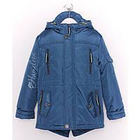 Демисезонная куртка парка детская подростковая на мальчика Денди