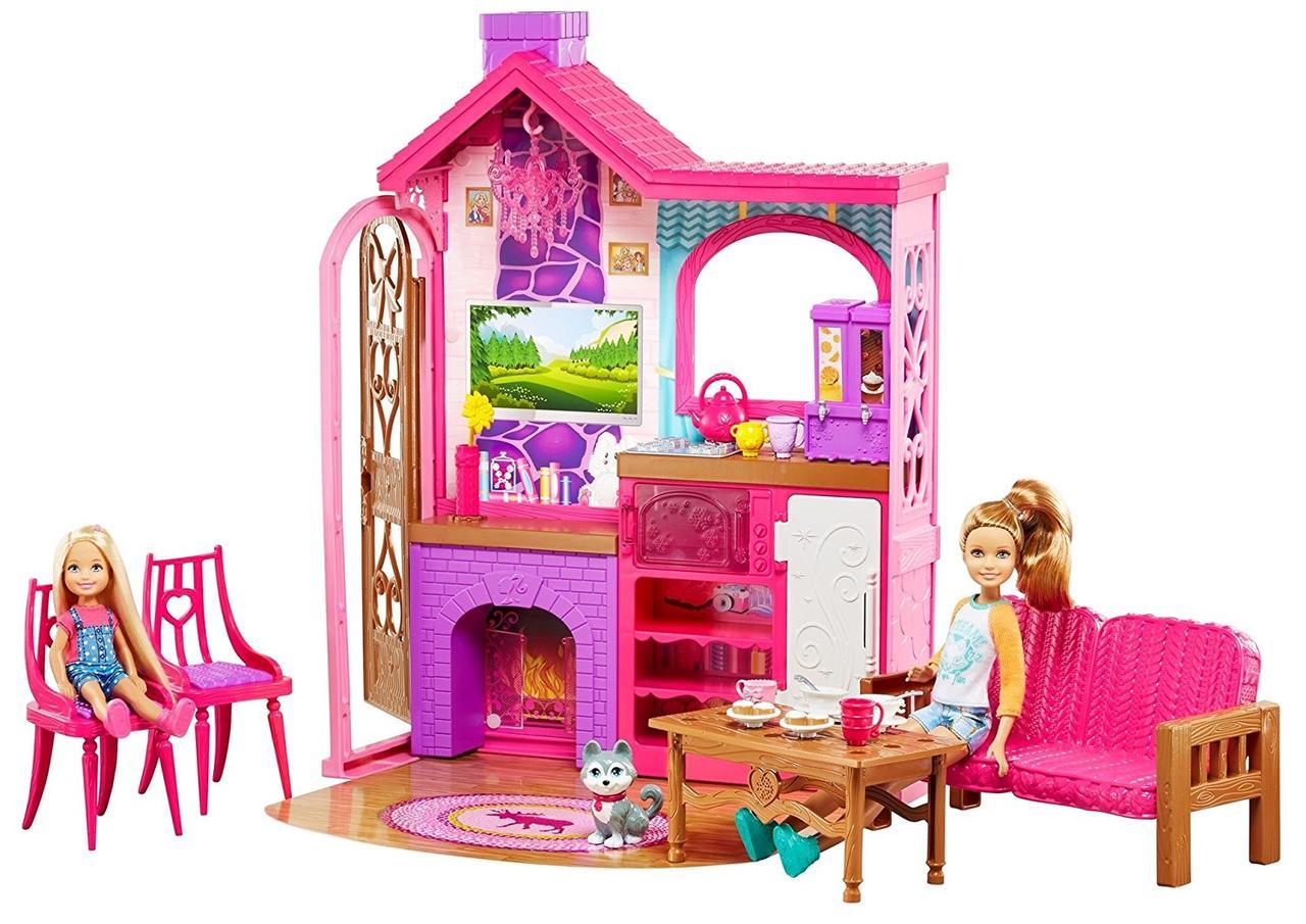 """Игровой набор комната на кемпинге сестер Барби серии """"Барби и ее сестры"""" /Barbie Sisters Camping Fun Cabin"""