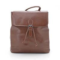 Женский кожаный рюкзак 17136A св. коричневый