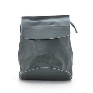 Женский кожаный рюкзак 8504 green