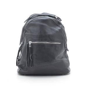 Женский кожаный рюкзак 66009 black