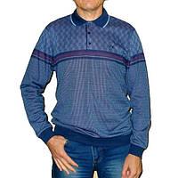 Синяя рубашка поло Caporicco (Турция) с полосой на груди