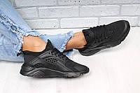 Черные женские кроссовки Nike Huarache (хуарачи)
