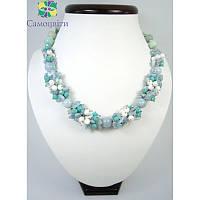 Эксклюзивное ожерелье, браслет и серьги из аквамарина