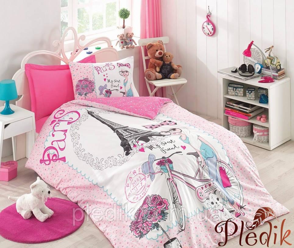 Подростковое постельное белье Cotton Box BEST FRIEND PEMBE