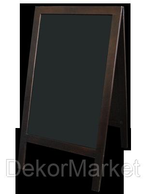 Штендер меловый двухсторонний 100х60 см. темная рама, фото 2