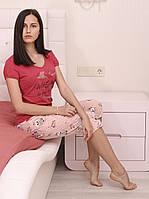 "Домашний комплект(пижама) футболка с бриджами ""Chiks"""