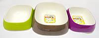 Пластиковая миска для кошек и собак GLAM TRIS SM/M/SM набор 3шт Ferplast