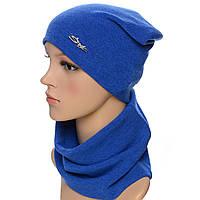 Комплект женский шапка+хомут трикотажный, размеры 56-57 (9 цветов) купить оптом в Одессе на 7 км