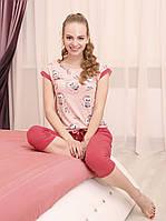 """Красочная женская пижама с бриджами из коллекции """"Chiks"""""""