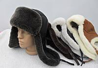 Шапка-ушанка из натуральной овчины