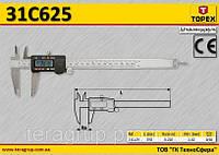 Штангенциркуль электронный цифровой 200мм,  TOPEX  31C625