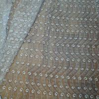 Гардина из фатина с вышивкой, фото 1