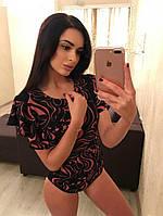 Женское боди с плечами волан, боди на кнопочках, разные цвета и размеры. Розница, опт в Украине., фото 1
