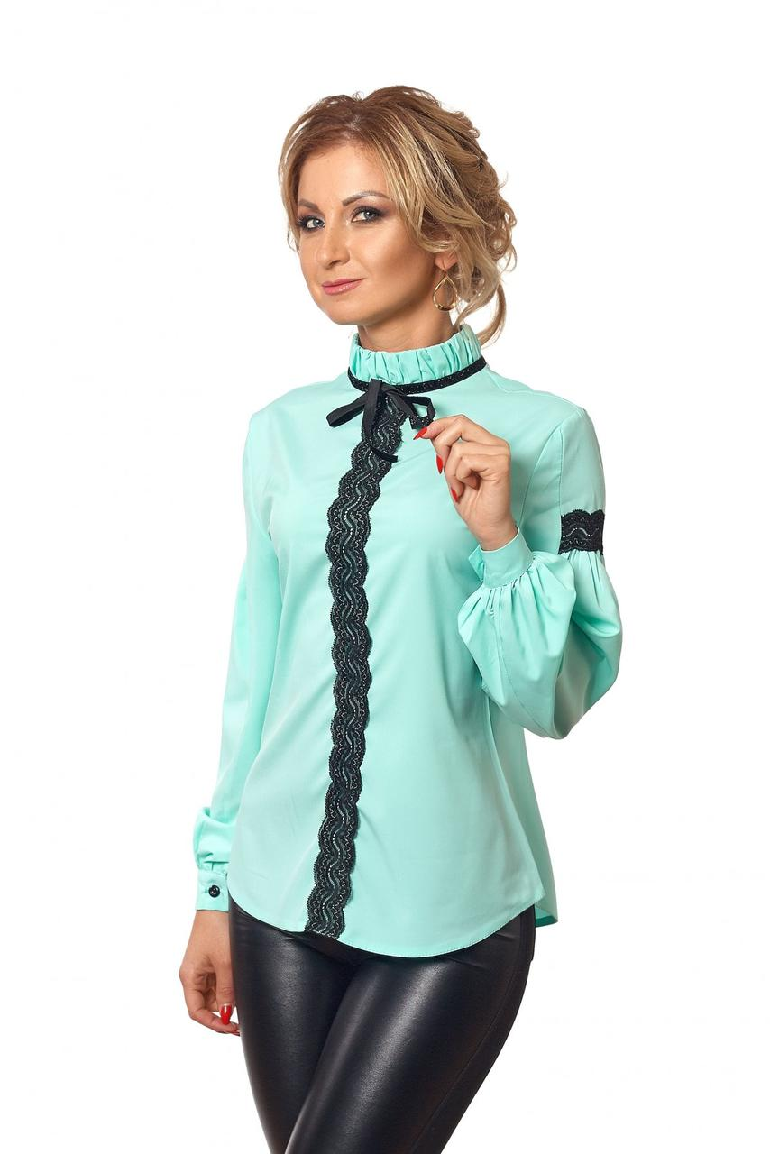 3e0aa085a76 Бирюзовая стильная блуза