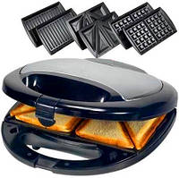 Сендвичница, ростер, бутербродница и тостер 3 в 1 Domotec , фото 1