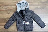 Теплая куртка на синтепоне (подкладка- мех), со съемным капюшоном 14 лет