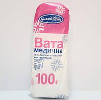 """Вата медицинская гигиеническая """"Белоснежка"""", нестер., """"зиг-заг"""", 100г"""
