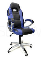 Кресло офисное XRacer, черно-синий цвет