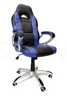 Крісло офісне XRacer, чорно-синій колір