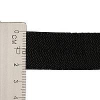 23 мм Окантовочная лента внешняя 8 г/м чёрная {ёлочка}