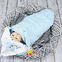 Большое полотенце с капюшоном для купания махровое мальчику