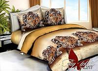 Комплект постельного белья PS-HL217 двуспальный (TAG polisatin-071д)
