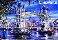 Алмазная вышивка Мост над рекой