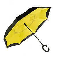Зонт на оборот UmBrella STARS Желтый CY-192