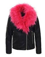 Детская кожаная куртка для девочек