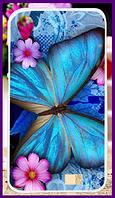 Чехол, бампер с принтом бабочек для смартфона HomTom ht16/ht16 pro