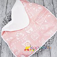 Непромокаемая пеленка 60*80, Мишка и друзья розовая