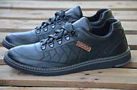 Мужские спортивные туфли (кроссовки) Ecco черные