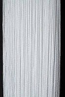 Шторы нитяные LUX (Густая) однотонные Белые № 1